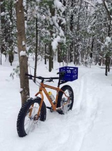 14 inches of snow on the race course for the Singletrack Showdown at the moment. Working on options.